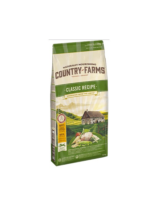 Purina Country Farms Classic al pollo Cane puppy 12 kg